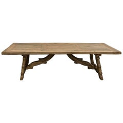 Large White Oak Dining Table