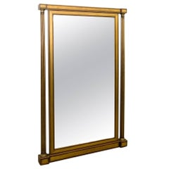 Gilt and Wood Painted Italian Mirror from the Piedmonte Region