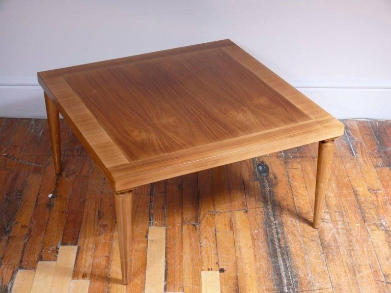 Polished Banded Coffee or Cocktail Table by T.H. Robsjohn-Gibbings For Sale