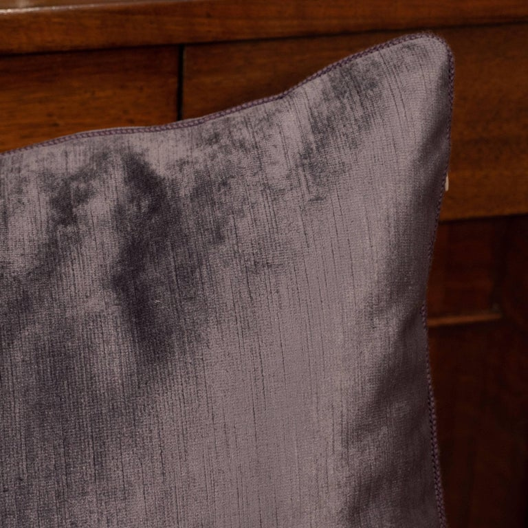Deep Purple Velvet Pillows In Excellent Condition For Sale In New York, NY