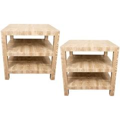 Pair of Faux Bois Side Tables
