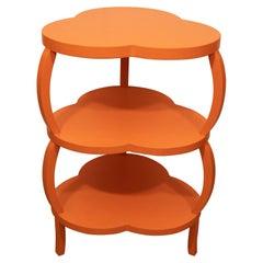 Orange Clover Leaf Table