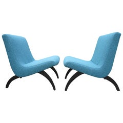 Pair of Milo Baughman Scoop Lounge Chairs for Thayer Coggin