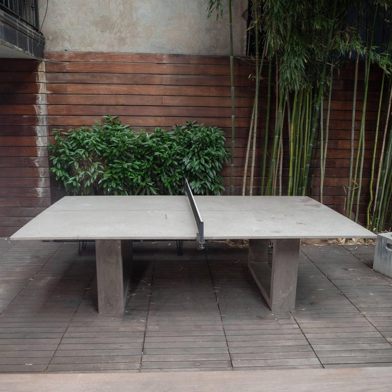 American James De Wulf Outdoor Concrete Ping Pong And Dining Table For