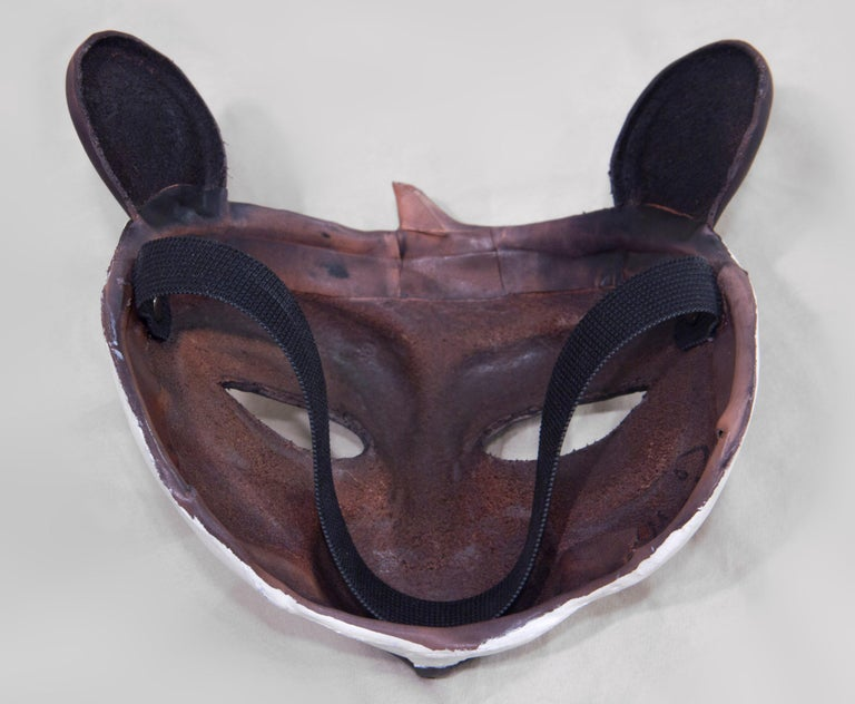 Leather Panda Mask In New Condition For Sale In Brooklyn, NY