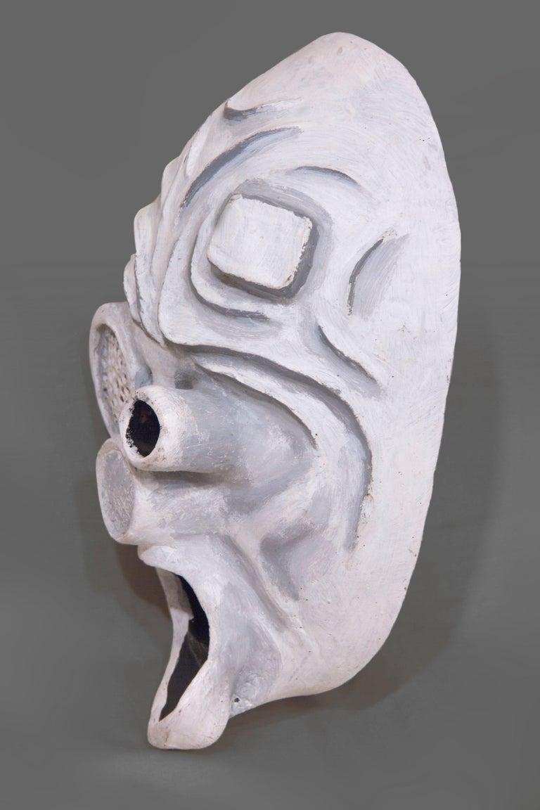 Gray Robot Mask