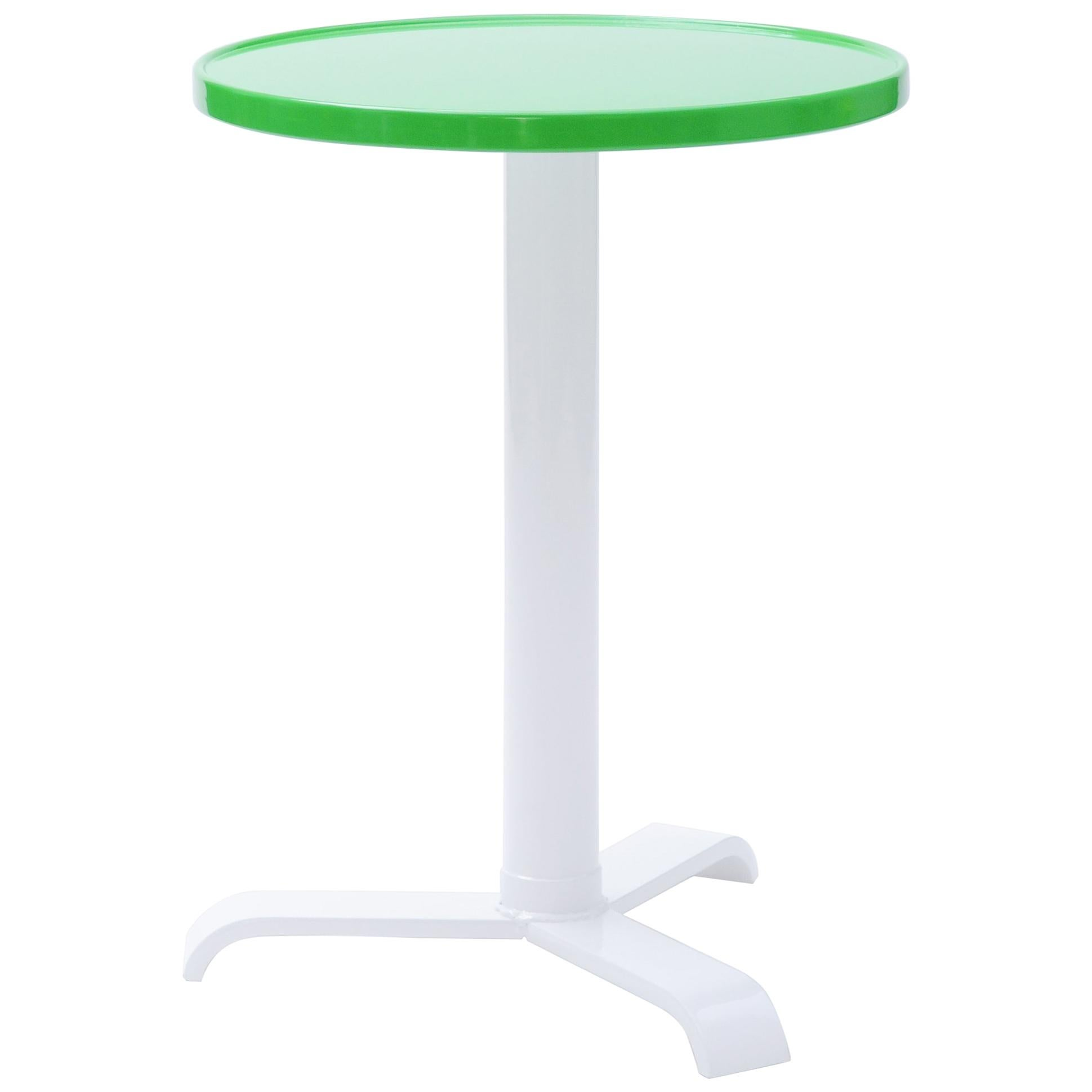 Gueridon 77 Small Round Pedestal Table in Essential Colors by Tolix