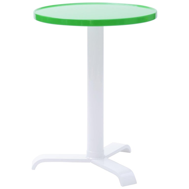 Customizable Gueridon 77 Small Round Pedestal Table In Essential Colors By Tolix For Sale At 1stdibs