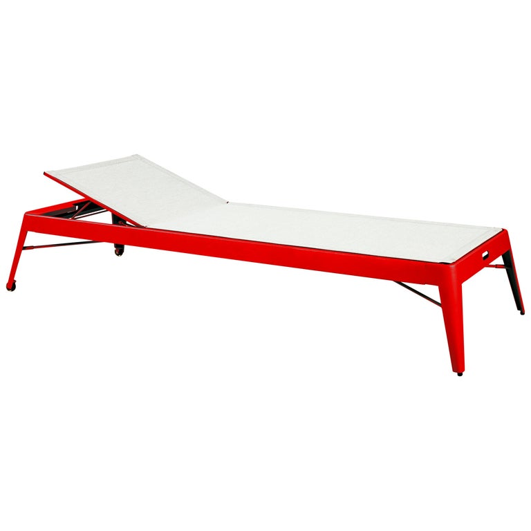 For Sale: Red (Poivron) Azur Sunbed in Essential Colors by Frederic Gaunet & Tolix