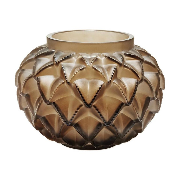 For Sale: Brown (Bronze) Limited Edition Grand Languedoc Vase in Crystal Glass by Lalique