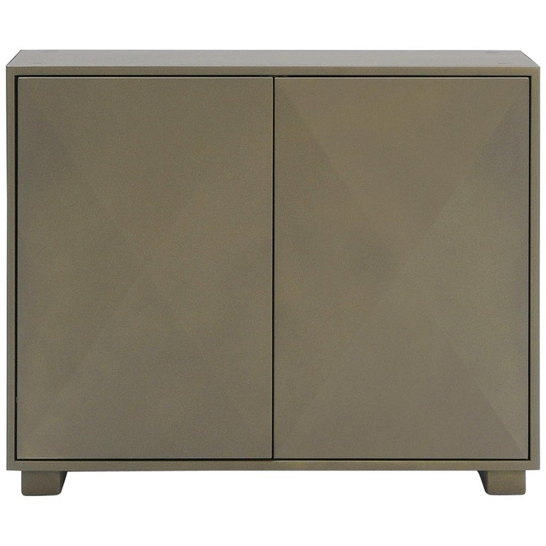 For Sale: Brown (Kaki) Diamond Side Cabinet in Pop Colors by Normal Studio & Tolix 4