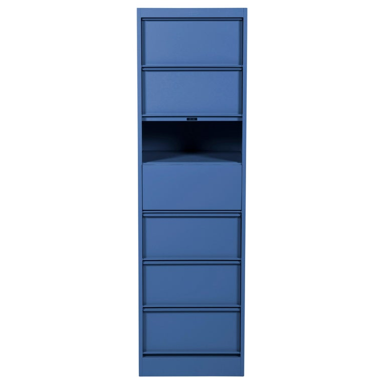 For Sale: Blue (Myrtille) CC7 Industrial Cabinet in Pop Colors by Xavier Pauchard and Tolix