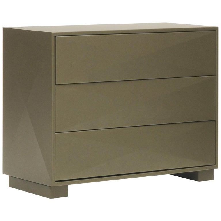 For Sale: Brown (Kaki) Diamond Dresser in Pop Colors by Normal Studio and Tolix