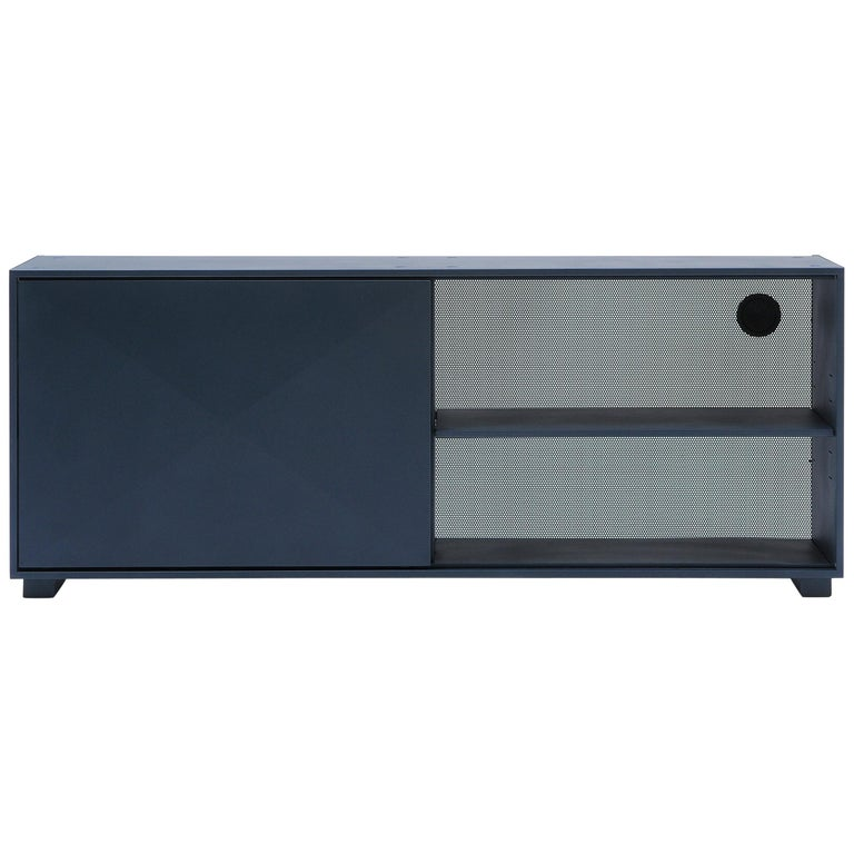 For Sale: Blue (Bleu Nuit) Diamond Lowboard in Pop Colors by Normal Studio & Tolix
