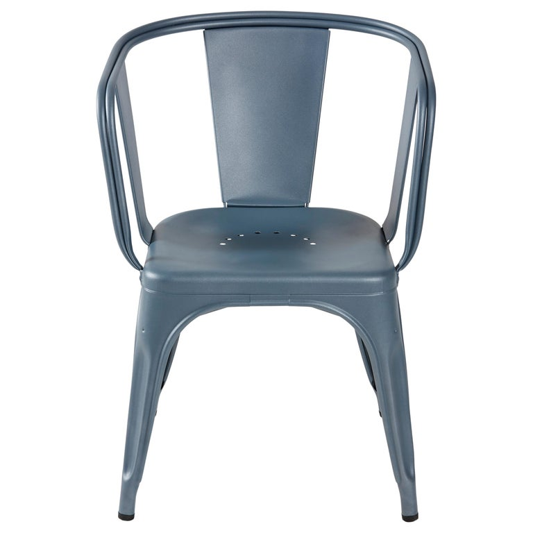 For Sale: Blue (Bleu Provence) D-Armchair in Pop Colors by Xavier Pauchard & Tolix