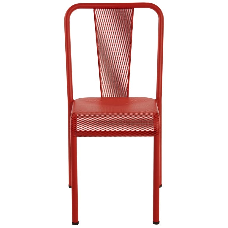 For Sale: Red (Poivron) T37 Perforated Chair in Essential Colors by Xavier Pauchard and Tolix