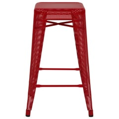 H Stool Perforated 65 in Essential Colors by Chantal Andriot and Tolix