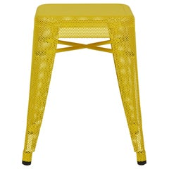 H Stool 45 Perforated in Essential Colors by Chantal Andriot and Tolix