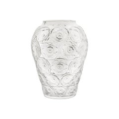 Anemones Vase in Crystal Glass by Lalique