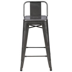 HPD Stool 65 with Low Back in Essential Colors by Tolix