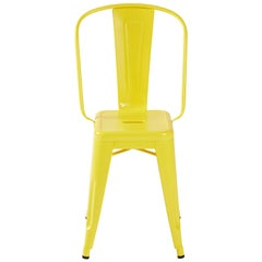H Stool 50 in with High Back in Essential Colors by Tolix