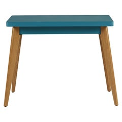 55 Console Table with Wood Legs in Pop Colors by Jean Pauchard & Tolix