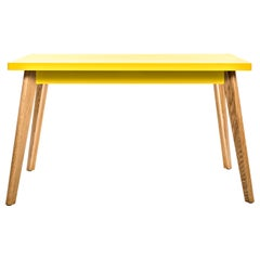 55 Small Table with Wood Legs in Essential Colors by Jean Pauchard & Tolix