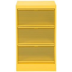 CC3 Perforated Industrial Cabinet in Essential Colors by Xavier Pauchard