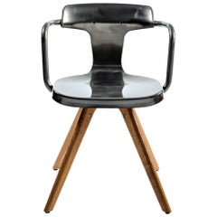 T14 Chair with Wood Legs in Essential Colors by Patrick Norguet and Tolix