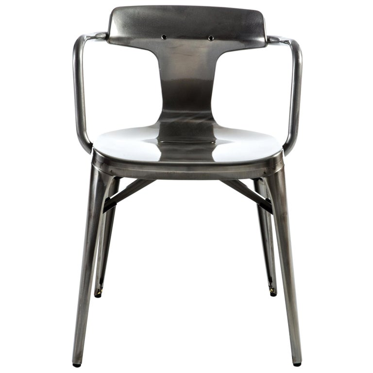 For Sale: Gray (Vernis Brilliant) T14 Chair in Essential Colors by Patrick Norguet and Tolix