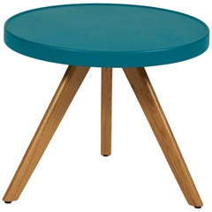 M17 Low Table with Oak Legs in Pop Colors by Tolix
