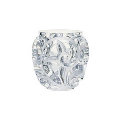 Small Tourbillons Vase in Crystal Glass by Lalique