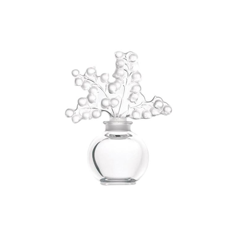 For Sale: Clear Clairefontaine Perfume Bottle in Crystal Glass by Lalique 2