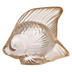 Fish Sculpture in Crystal Glass Luster by Lalique