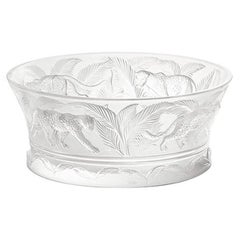 Jungle Bowl in Crystal Glass by Lalique