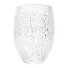 Medium Ombelles Vase in Crystal Glass by Lalique