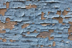 Wallscape I - abstract photograph of painterly details of blue toned surface