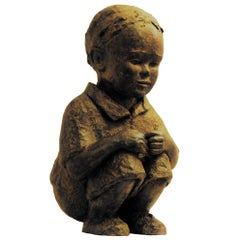 The Curious Child - Bronze by Isabelle Levesque