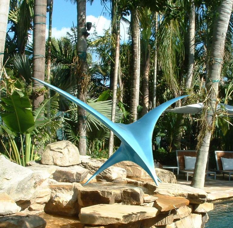 Patrice Breteau Figurative Sculpture - Twin Bird Sculpture
