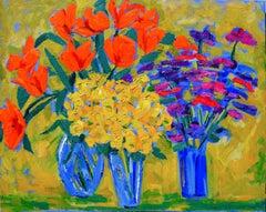 Mid Century Post Impressionism Bouquets Still Life