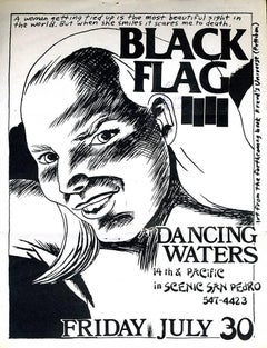 Raymond Pettibon Black Flag flyer 1982 (Raymond Pettibon prints)