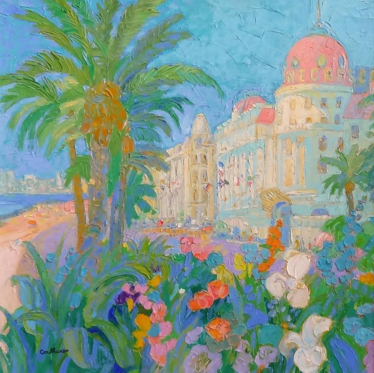 Daniel Couthures Landscape Painting - Floralies Nicoises