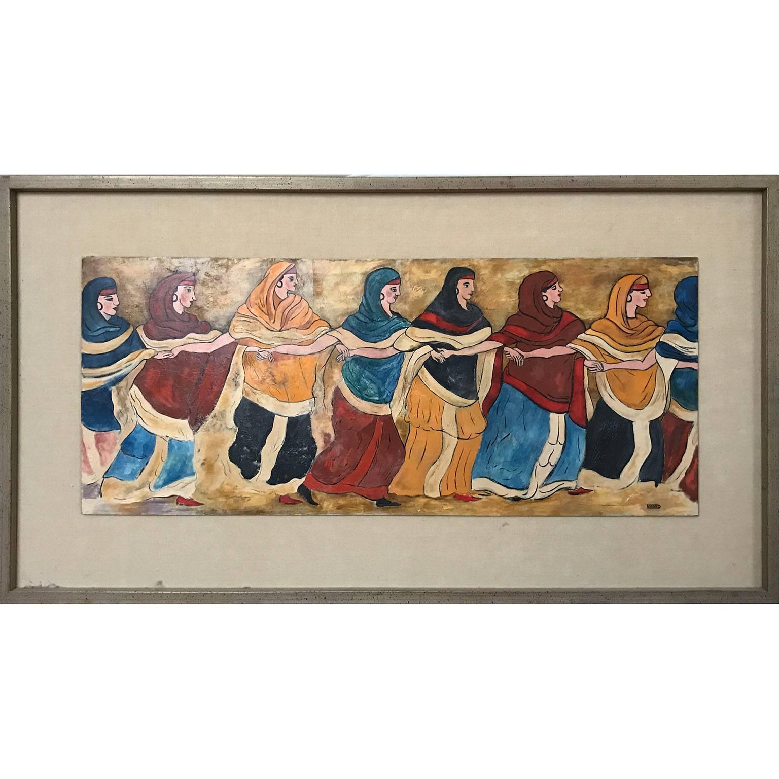 Post-Impressionist Dancing Female Figure Painting
