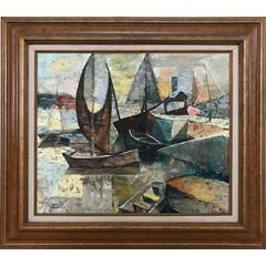Chester Snowden Abstract Boats