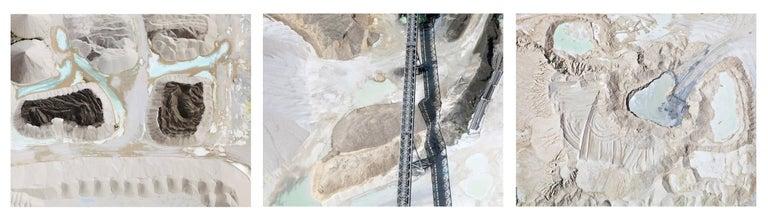 Jill Peters Landscape Photograph - Quarry 4, Quarry 2, Lake 2 (Aerial Photography)