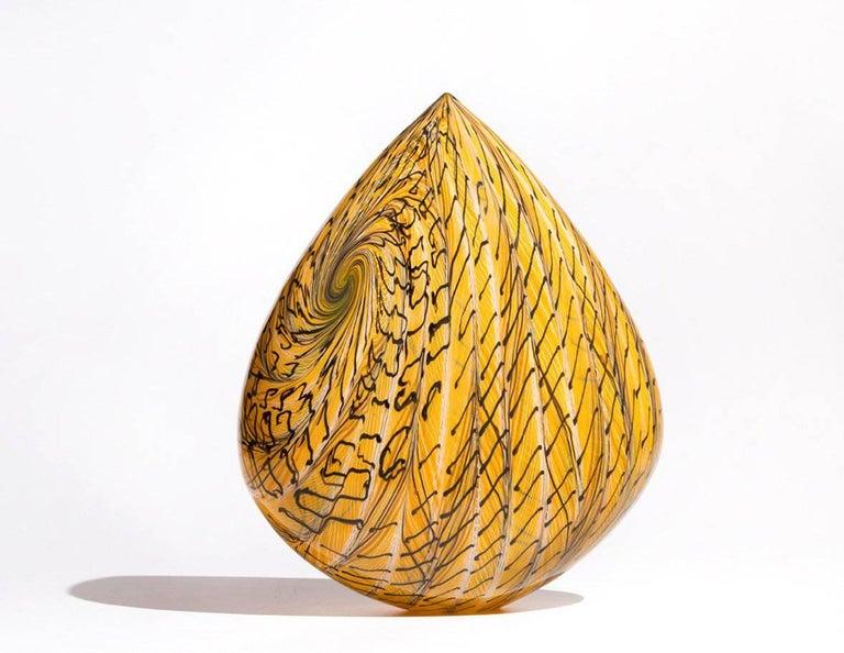 Goldfinch Clovis, Blown Glass Sculpture