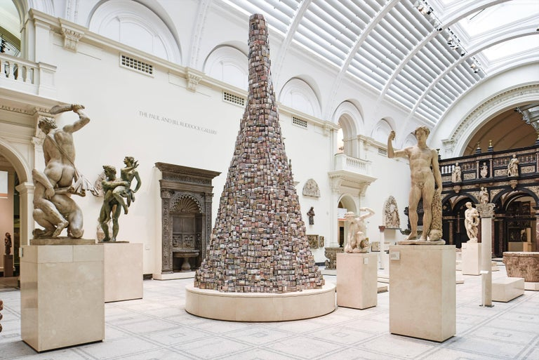 Created especially for the V&A by artist Barnaby Barford, The Tower of Babel was displayed in the V&A's Medieval & Renaissance Galleries from 8 September to 1 November 2015.  The Tower of Babel is Barnaby Barford's representation of