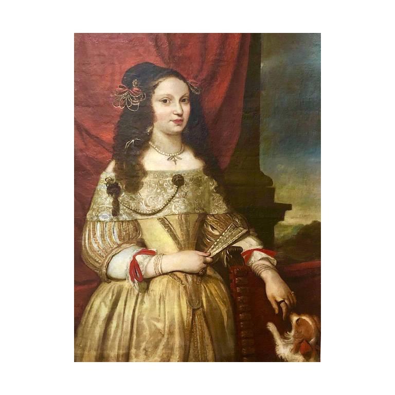 Portrait of a Noblewoman - Circle of Pier Francesco Cittadini. - Painting by Pier Francesco Cittadini