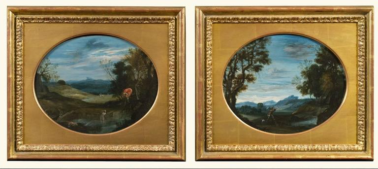 Two Scenes of Diana and Actaeon (a pair)