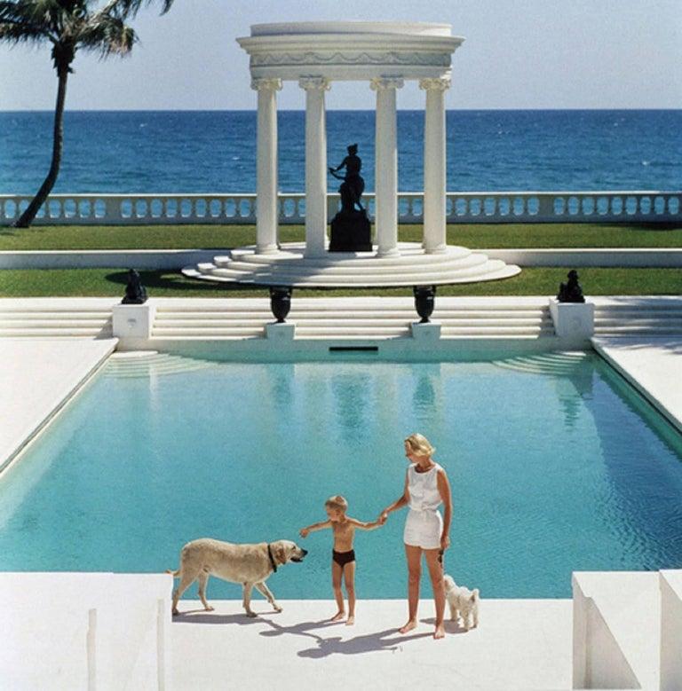 Nice Pool, Villa Artemis, Palm Beach, Slim Aarons Estate Edition - Photograph by Slim Aarons